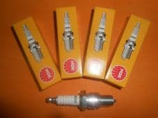 FORD CONSUL 375 Mk2 (1956-62) NGK SPARK PLUGS SET of 4